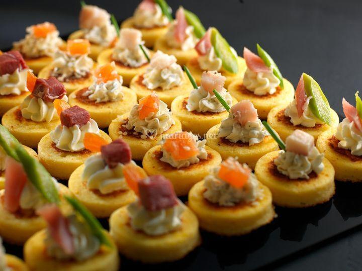 Mini-galettes de polenta