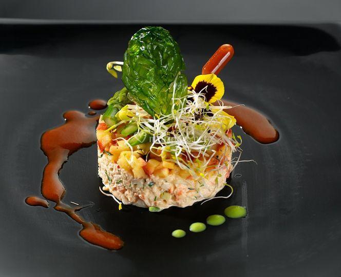 Frivolité de crabe à la pomme