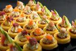 Mini-galettes de polenta  sur L'O � la bouche