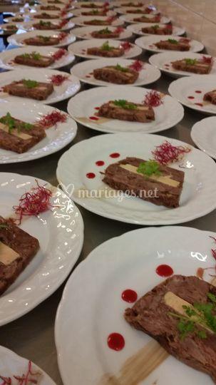 Terrine jarret foie gras