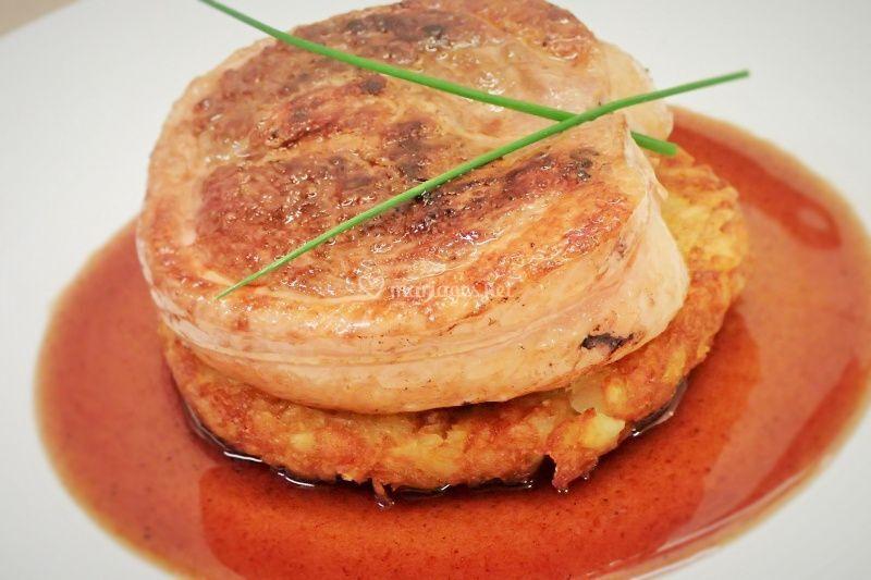Tournedos canard sauce cassis