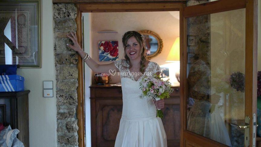 La mariée descend