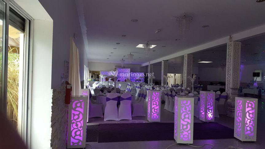 Décoration thème violet