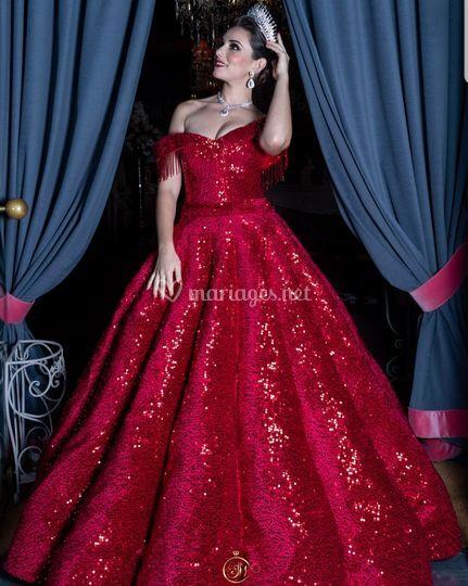 Robe princesse pailletée