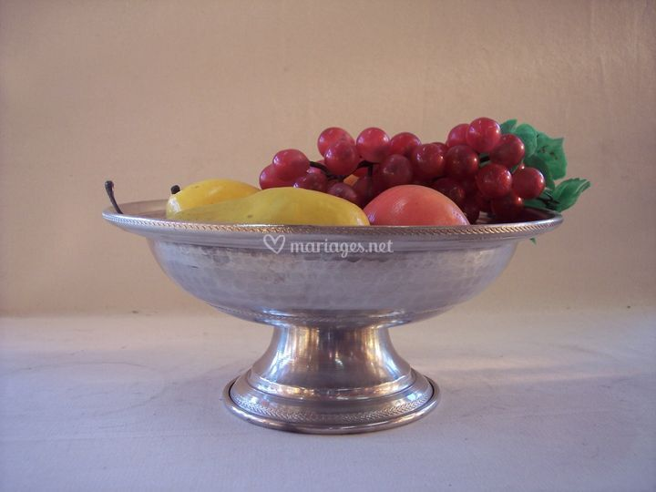 Coupe à fruit Etain