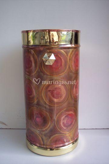Vase Grande Fleur cuivre