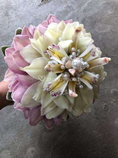 Bouquet de mariée bijoux