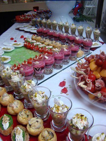 Un buffet cocktail