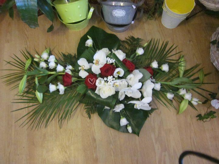 Ventouse bouquet rouge et blanc