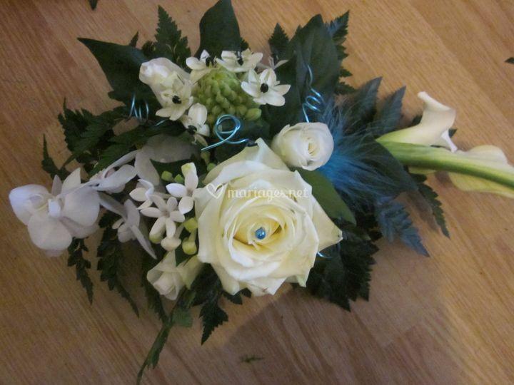 Ventouse bouquet blanc