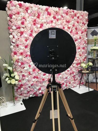 Mur de fleurs & Photo Booth