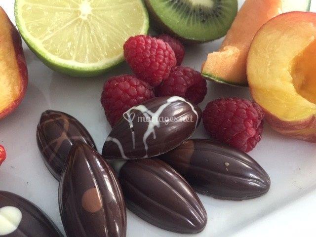 Cabosses aux purées de fruits