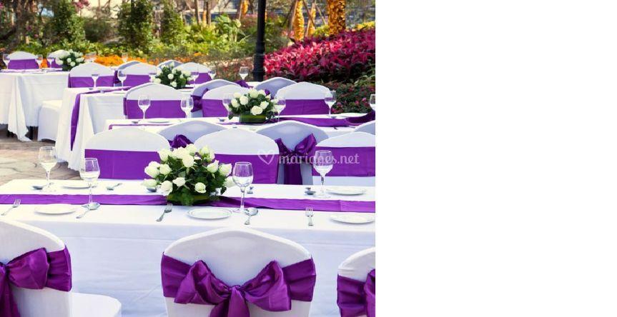 Déco mariage violet