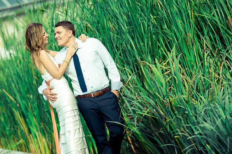 Séance de couple dans un parc