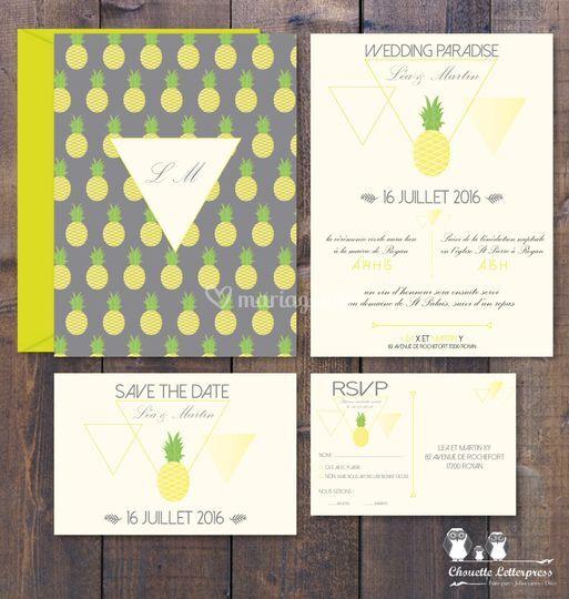 "Kit invitation ""Ananas"""