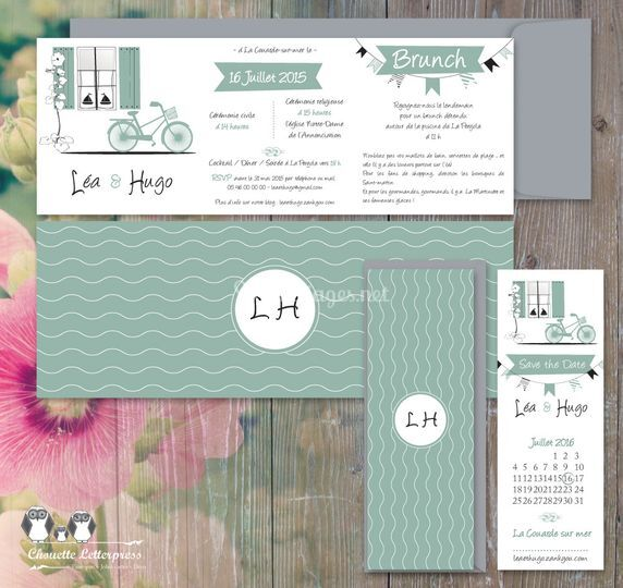 """Kit invitation """"Île de Ré"""""""