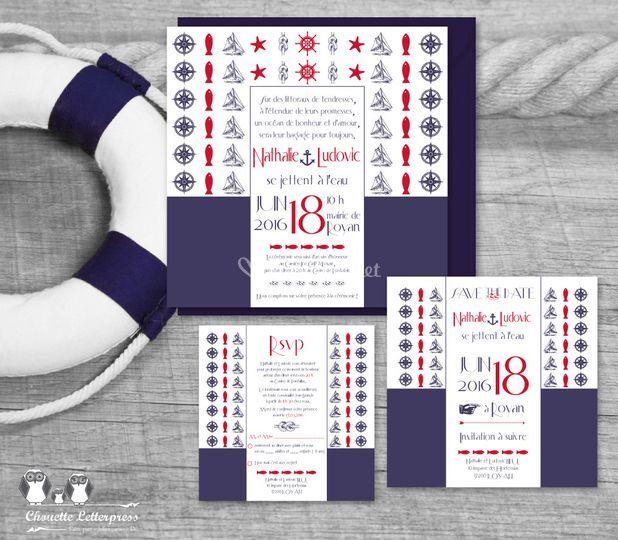 "Kit invitation ""Navy"""