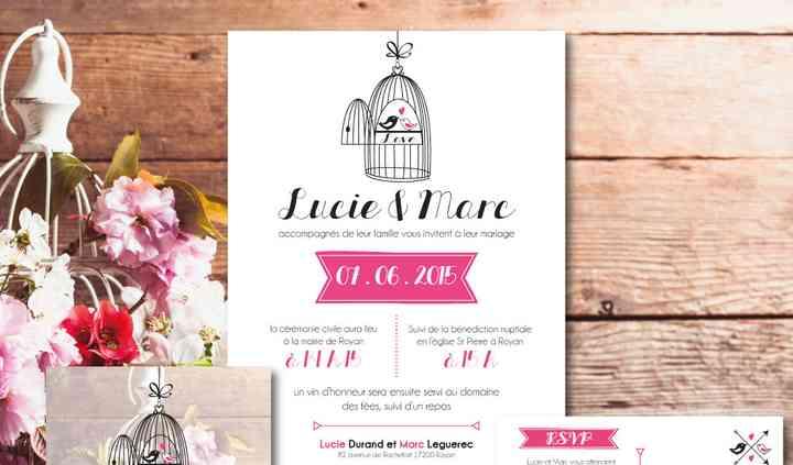 """Kit invitation mariage """"Bird"""""""