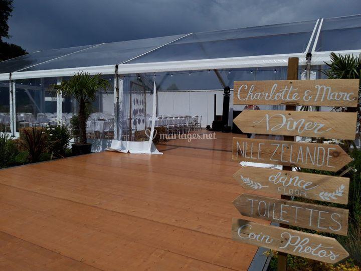 Tente Christal Domaine privé