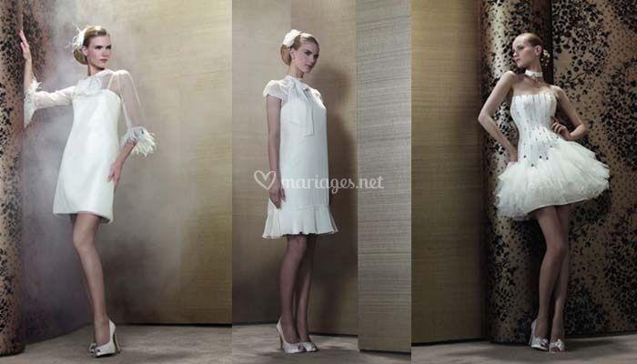 Robes de mariée courtes style moderne