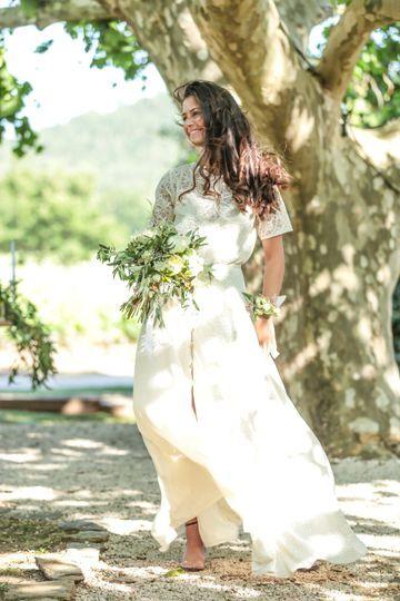 Bouquet et bracelet mariée