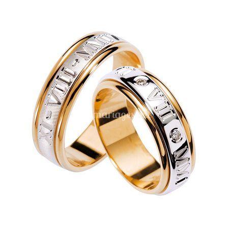 Alliance de mariage chiffre romains