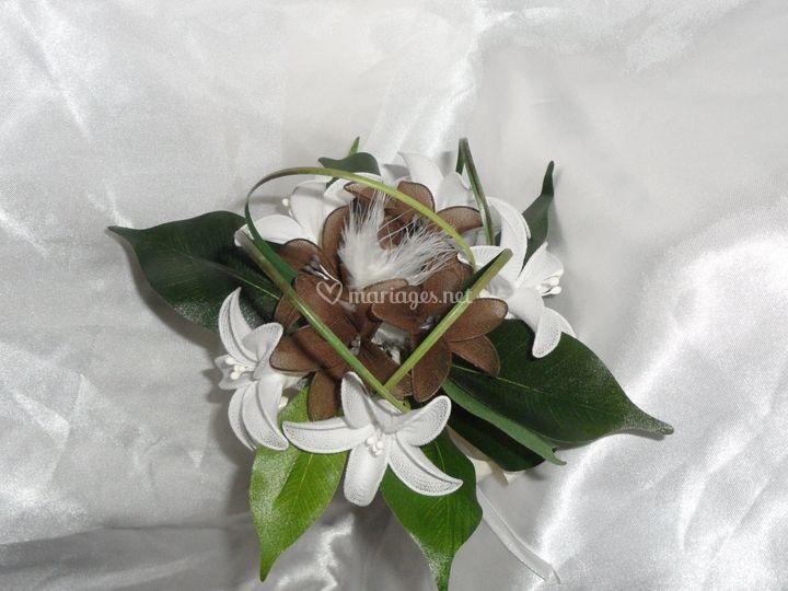 Bouquet chocolat ivoire et bla