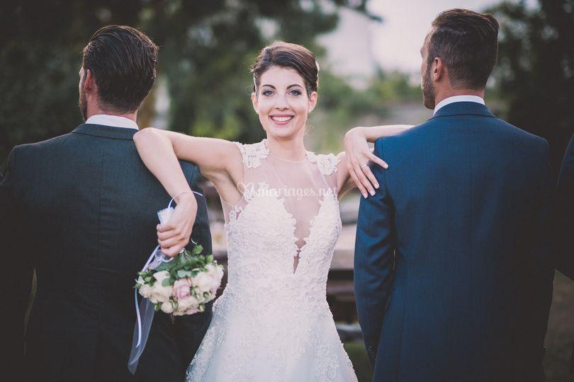 Smiling bride tiff