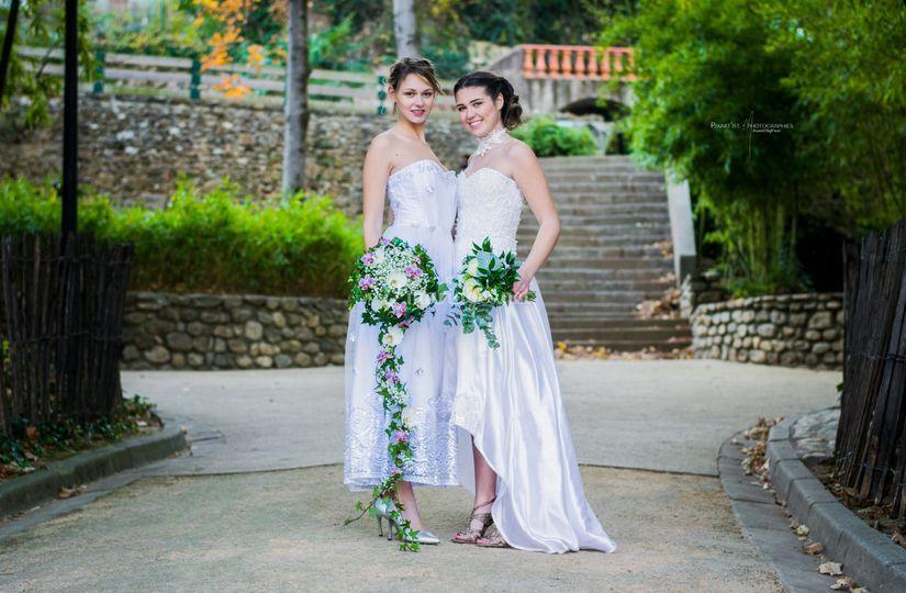 Robe de mariée duo shooting