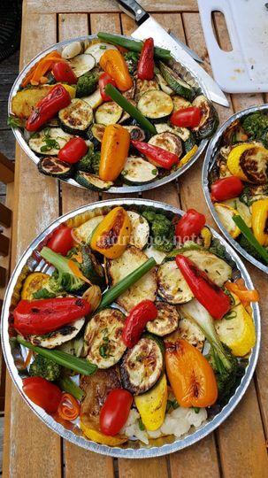 Légumes végétariens grillé au