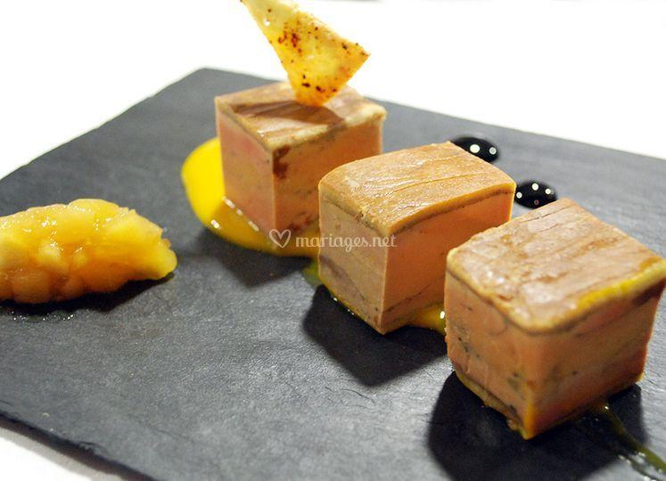 Entrée: foie gras