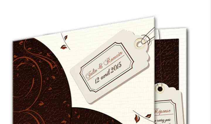 Faire-part classic Chocolat