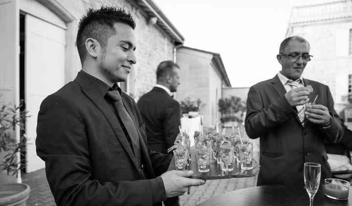 Service lors du vin d'honneur