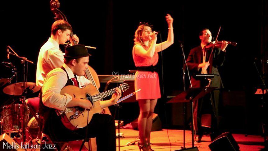 Quartet swing avec chanteuse