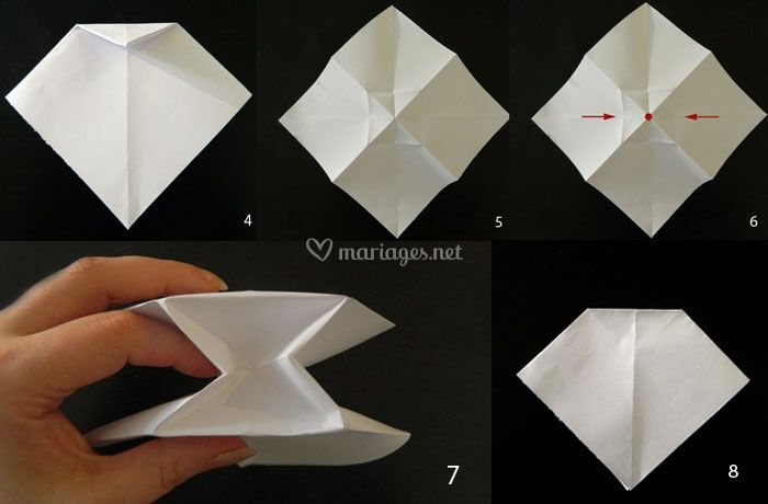 tutoriel origami diamant