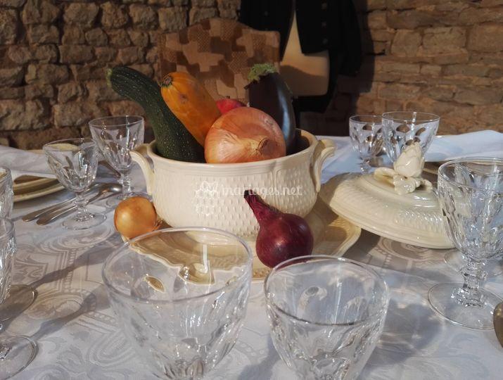 Une table bien dressée