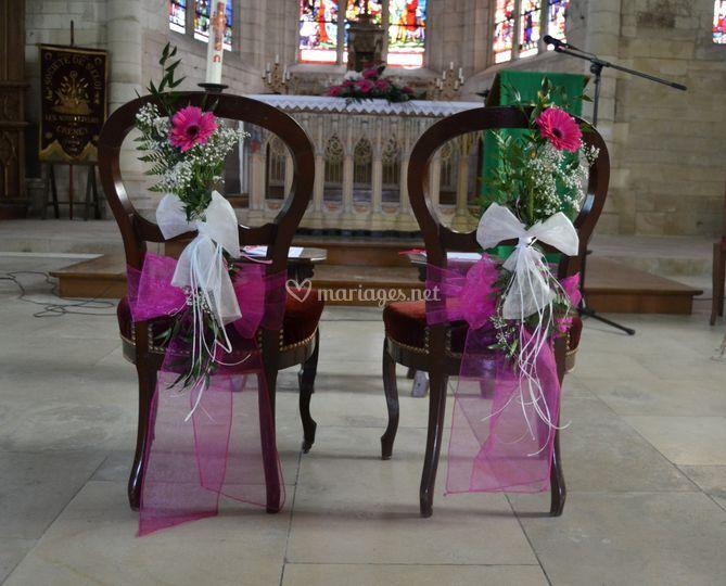 Décoration chaises d'église