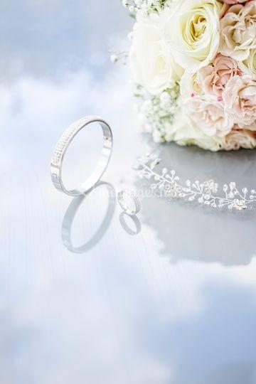 Préparatifs accessoires mariée