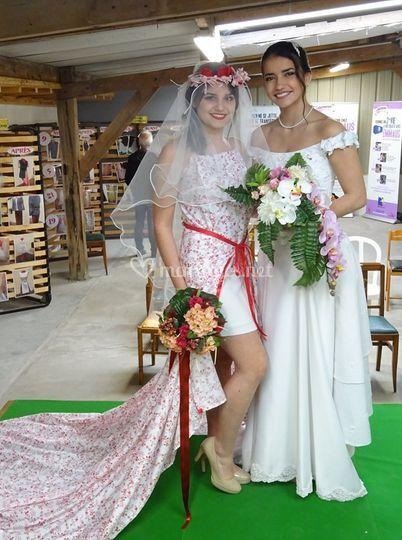 2 robes de mariées