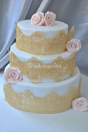 Wedding cake doré