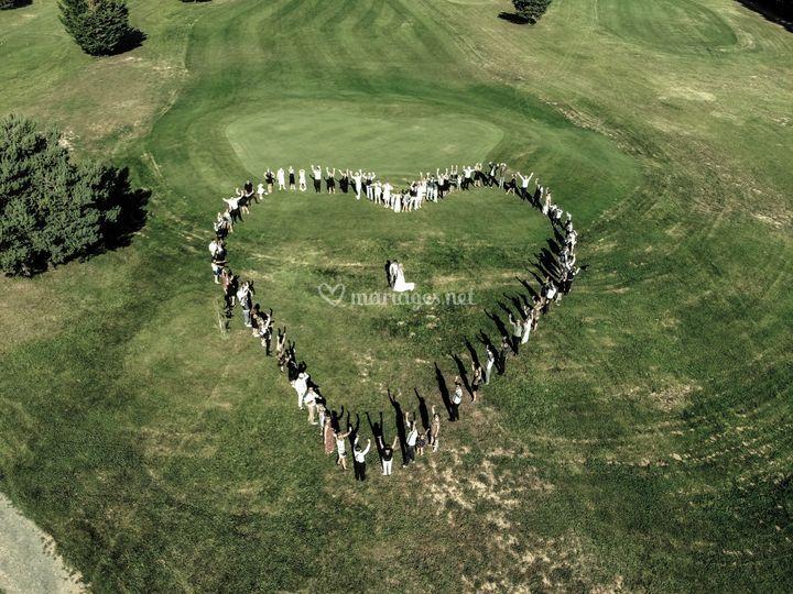 Coeur vu de drone