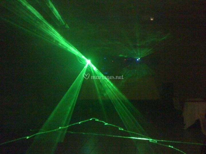 Effet laser vert