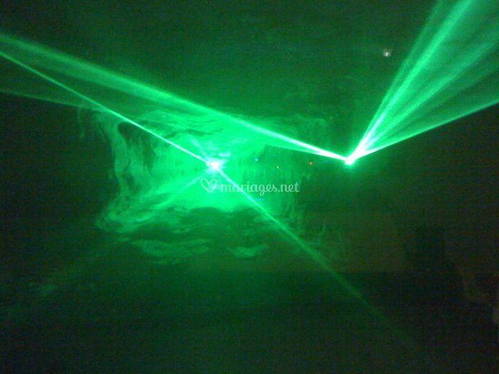 Laser en soirée