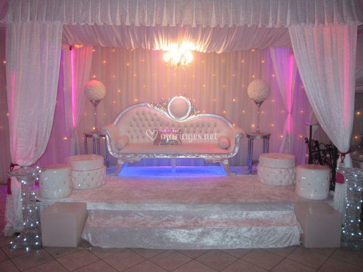 Podium des mariées sur Blue Palace
