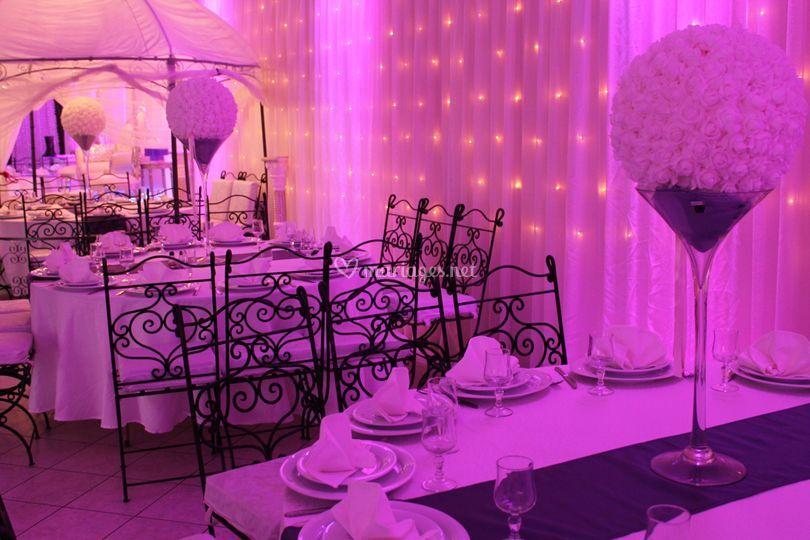 Deco theme violet