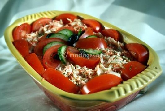 Salade coleslaw aux tomates