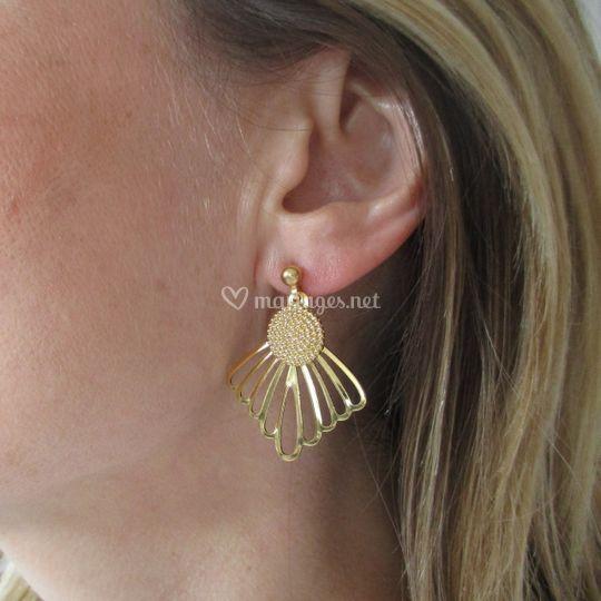 Boucles d'oreille doré or fin