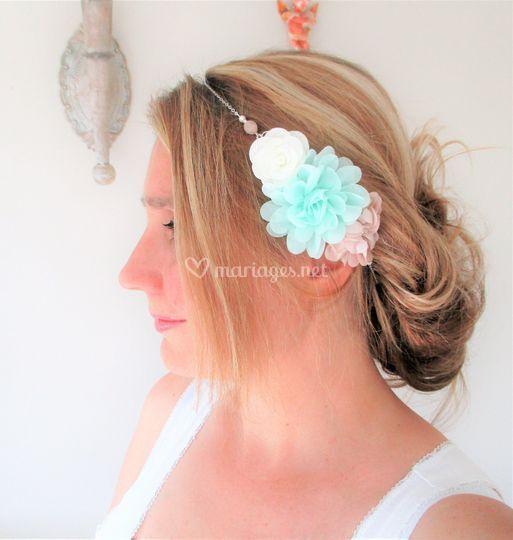 Headband à fleurs pastel