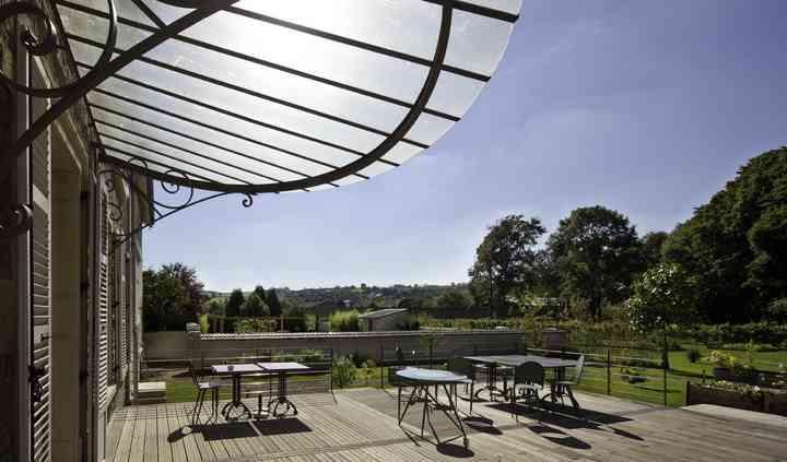 La terrasse donnant sur le parc