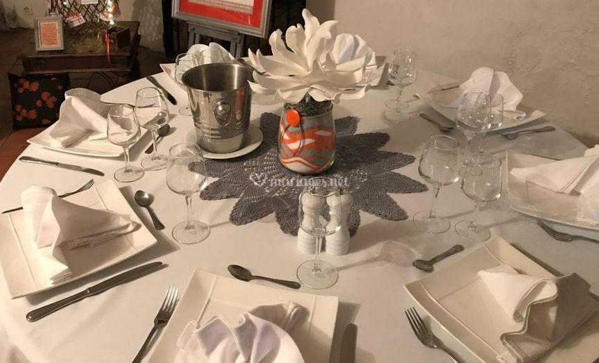"""Centre de table """"invités"""""""
